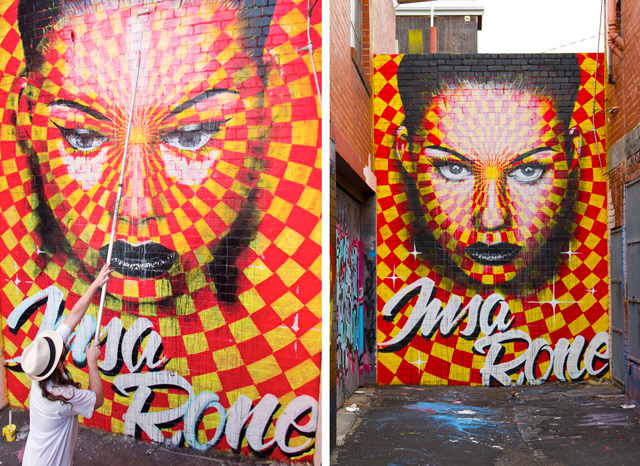 Rone and Insa paint gifiti wall in Melbourne, Australia