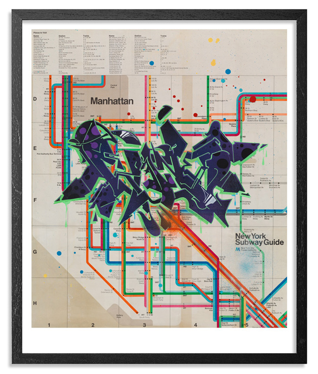 Old Ny Subway Map.Wane One Gets Down On Old School New York City Subway Maps